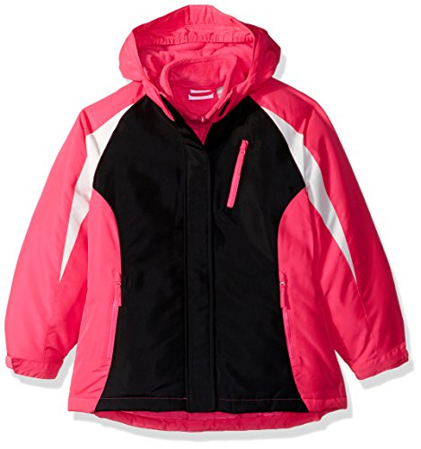 The Children's Place Big Girls' Solid 3-in-1 Jacket, Hot Gossip Neon, S (5/6)