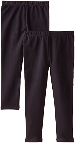 The Children's Place Big Girls' Solid Legging (Pack of 2), Black, Medium (7/8)