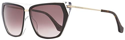 Sunglasses Balenciaga black/other / gradient bordeaux