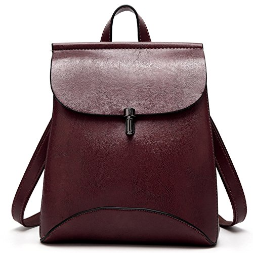 SiMYEER Women's Pu Leather Backpack Purse Ladies Casual Shoulder Bag