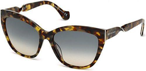 Balenciaga Women's Havana/Silver Fashion Sunglasses 56mm