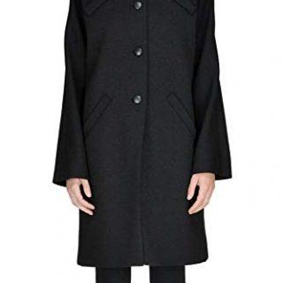 Balenciaga Women's Black Wool Coat