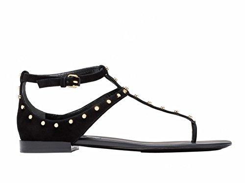 Balenciaga Women's Black Suede Sandals
