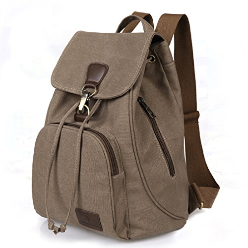 Qyoubi Womens Canvas Fashion Backpacks Purse Casual