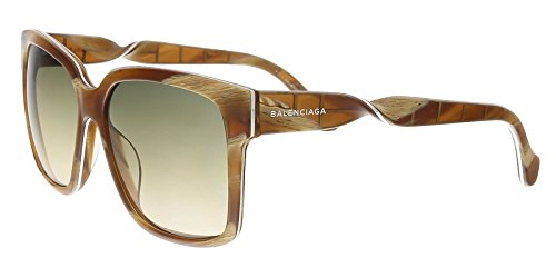 Sunglasses Balenciaga brown horn / gradient smoke