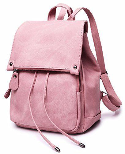 Stylish PU Leather Backpack For Women, Lightweight Cute Mini Backpack