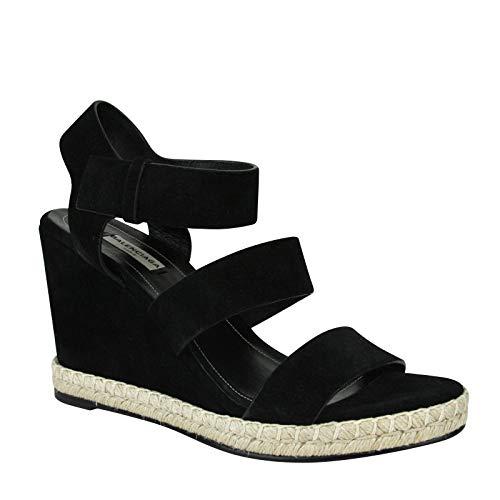 Balenciaga Women's Wedge Platform Black Suede Sandals