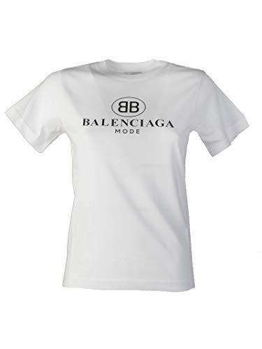 Balenciaga Women's White Cotton T-Shirt