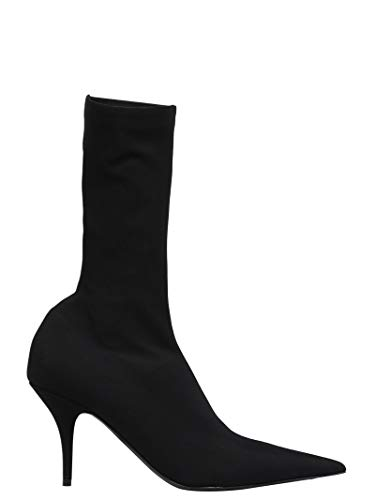Balenciaga Women's Black Cotton Ankle Boots