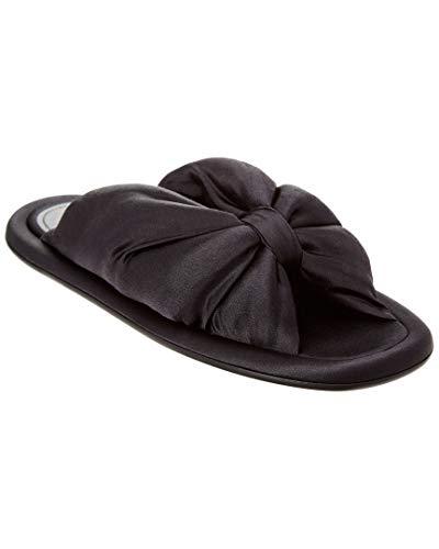 Balenciaga Satin Slide Sandal, 36.5, Black