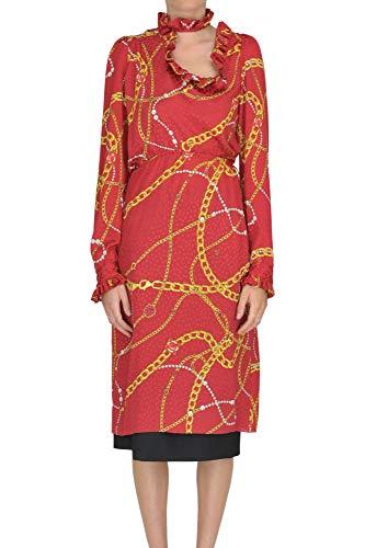 Balenciaga Women's Red Silk Dress