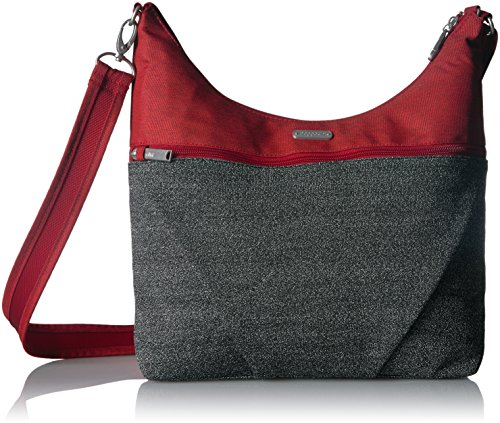 Baggallini Anti-Theft Hobo Bag - Stylish Travel Purse With Locking Zippers