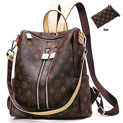 Casual Purse Fashion School Leather Backpack Crossbady Shoulder Bag