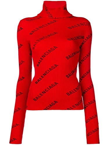 Balenciaga Women's Red Polyamide Sweater