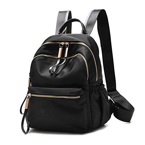 Wraifa Waterproof Oxford Small Backpack Purse for Women School Bags for Girls