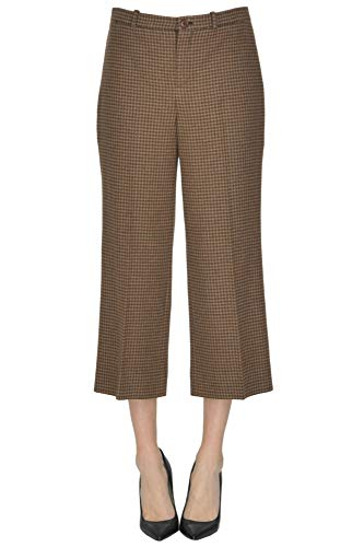 Balenciaga Women's Brown Wool Pants