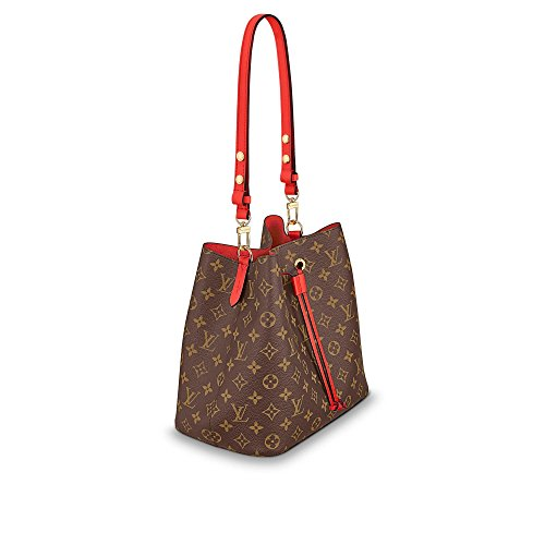 NeoNoe Style Monogram with Red Tightening and Strap Crossbody Shoulder Bag