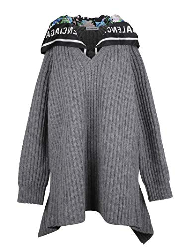 Balenciaga Women's Grey Wool Sweater