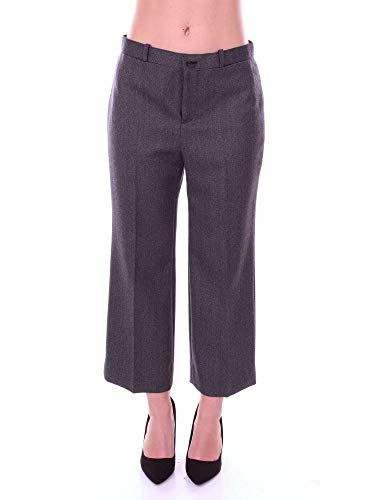 Balenciaga Women's Grey Wool Pants