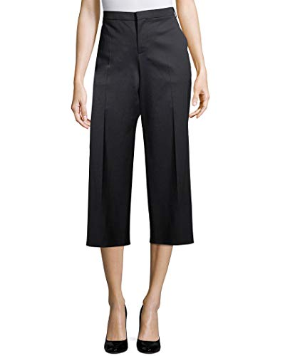 Balenciaga Womens Wide Leg Wool Trouser, 38