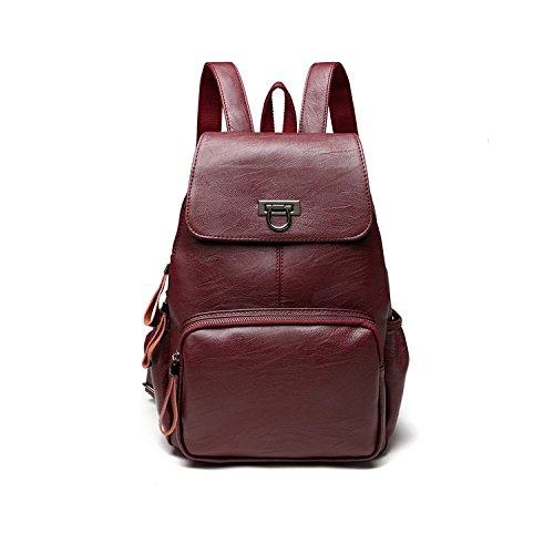 CARQI Leather Backpack Fashion Mini School Handbag