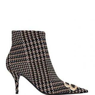 Balenciaga Women's Brown/Black Fabric Ankle Boots