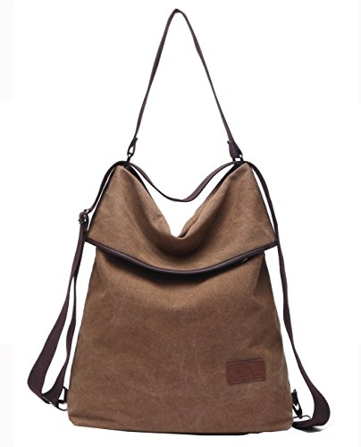 Travistar Women Multifunction Shoulder Bag- Canvas Backpack Purse