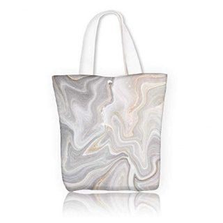 Canvas Tote BagMarble abstract natural marble black and white gray