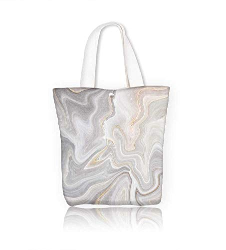 Canvas Tote Bag Marble abstract natural marble black and white gray