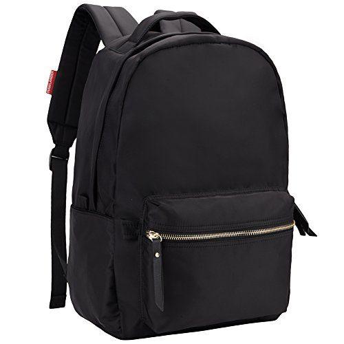 HawLander Nylon Backpack for Women - Lightweight,Small Size,Black