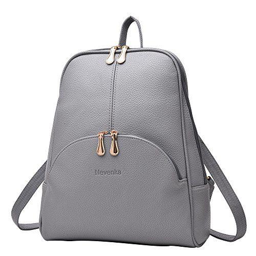 Nevenka Brand Women Bags Backpack PU Leather Zipper Bags Purse