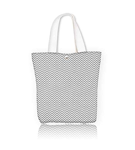 Canvas Tote Bag  in zigzag Hanbag Women Shoulder Bag Fashion
