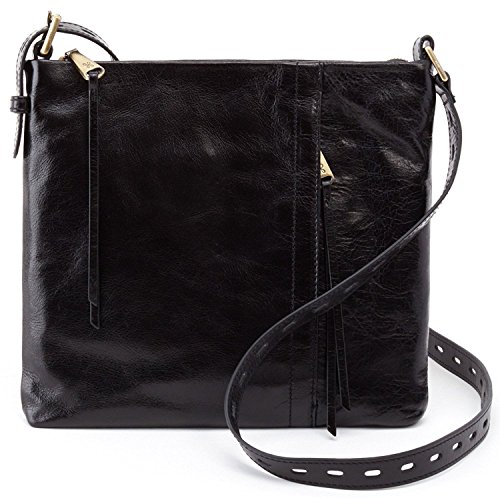 Hobo Women's Vintage Hide Drifter Crossbody Bag (Black)