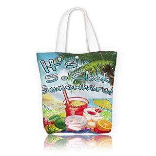 Canvas Shoulder Hand Bag Summer beverages cocktail