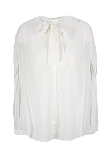 Balenciaga Women's White Silk Blouse