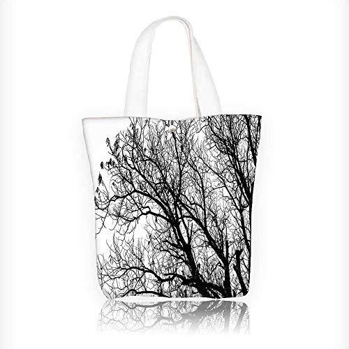 Canvas Shoulder Hand Bag Branches Tops Oak Woodland Season Eco