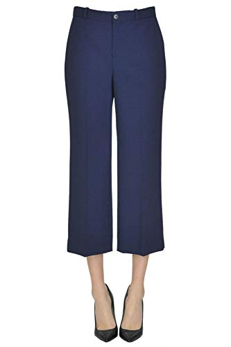 Balenciaga Women's Blue Wool Pants
