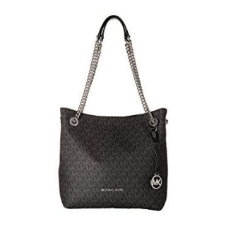 MICHAEL Michael Kors Jet Set Chain Medium Shoulder Tote (Signature Black)