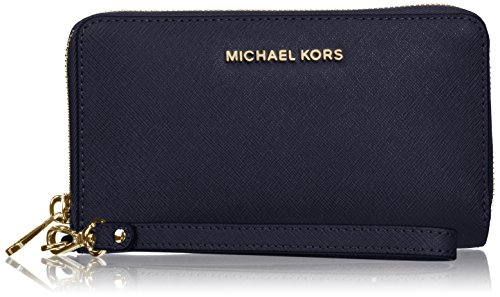 Michael Michael Kors Womens Jet Set Travel Leather Large Smartphone Wristlet