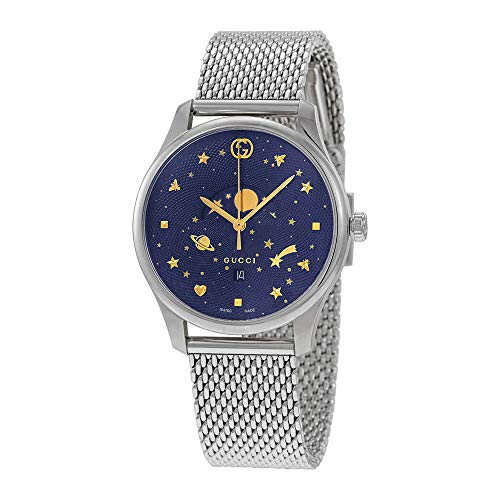 Gucci G-Timeless Blue Motifs Dial Mens Watch YA126328