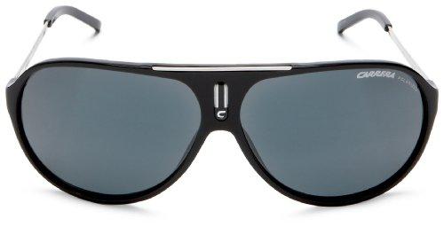 Carrera Hot Aviator Sunglasses, Black And Palladium Frame/Grey Lens,one size