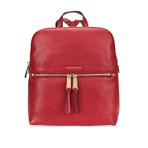 Michael Kors Rhea Medium Slim Leather Backpack MAROON