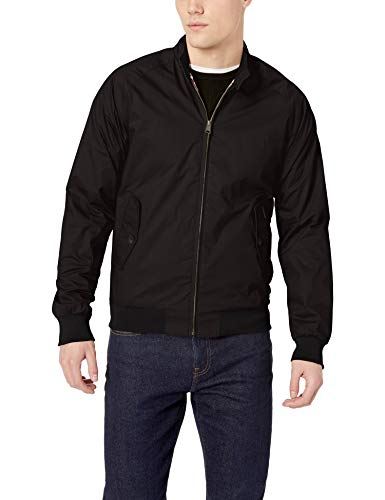 Ben Sherman Men's Harrington Jacket, Black, Small
