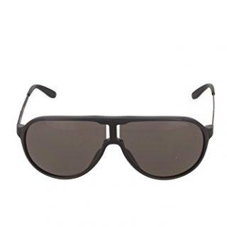 Carrera New Champion Aviator Sunglasses, Matte Black & Brown Gray, 62 mm