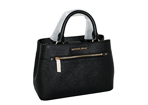 MICHAEL Michael Kors Women's HAILEE XSMALL Satchel Leather Handbag BLACK