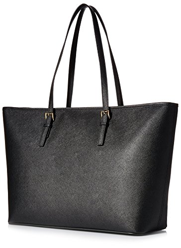 MICHAEL Michael Kors Women's Jet Set Travel Medium Top Zip Mult Funt Tote, Black, One Size