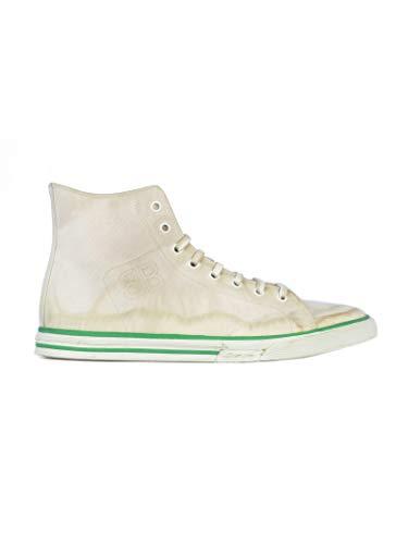 Balenciaga Men's Beige Fabric Hi Top Sneakers
