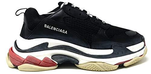 Balenciaga Triple S Trainers Mens Style BLACK/RED