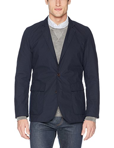 Billy Reid Men's Lightweight Reversible Blazer, Navy/Black, M