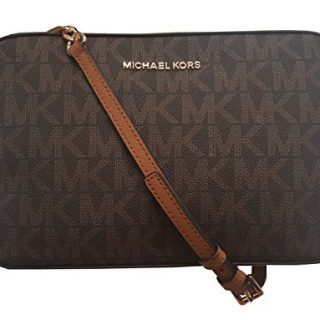 Michael Kors Jet Set Item Large East West Crossbody Shoulder Bag Brown Acorn